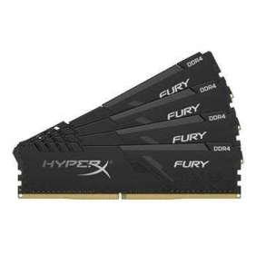 KINGSTON 32GB 2666MHz DDR4 CL16 DIMM (Kit of 4) 1Rx8 HyperX FURY Black Refresh