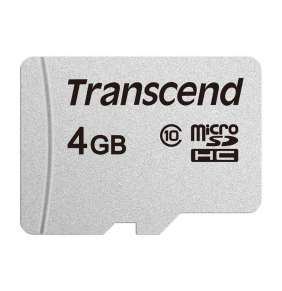 TRANSCEND MicroSDHC karta 4GB 300S, Class 10, bez adaptéru