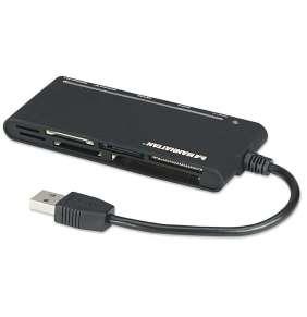 MANHATTAN Čtečka paměťových karet, 62 v 1, USB 3.0, černá, externí