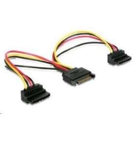 Cablexpert kábel SATA napájací na 2x SATA 90°, rozdvojka, 15cm