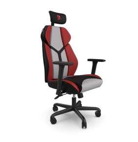 SPC Gear EG450 CL ergonomická herní židle šedo-červená - textilní