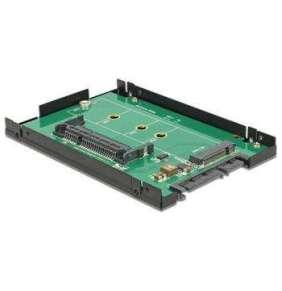 """Delock 2.5"""" Konverter SATA 22 Pin   1 x M.2 / 1 x CFast - 9,5 mm Gehäuse"""