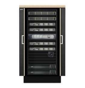 Rack APC NetShelter CX 24U Secure Soundproof Server Room in a Box Enclosure