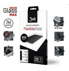 3mk hybridní sklo FlexibleGlass Max pro Huawei P Smart, černá