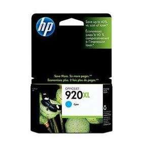 HP 920 XL - azurová inkoustová kazeta, CD972AE