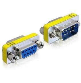 Delock Adaptér Seriový Sub-D 9 pin samec   Sub-D 9 pin samice – šetřič portu