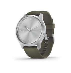 GARMIN chytré elegantní fitness hodinky vivomove3 Style, Silver/Green Band