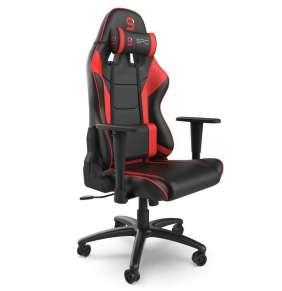 SPC Gear SR300 V2 RD herní židle černo-červená - kožená