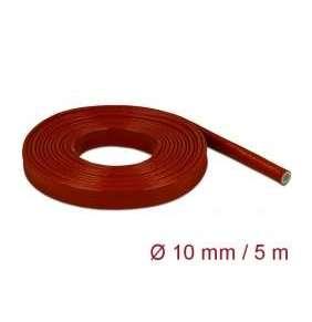 Delock Ohnivzdorné hadice se silikonovým povrchem, 5 m x 10 mm, cervené