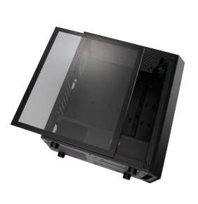 FSP/Fortron ATX Midi Tower CMT350 Black, průhledná bočnice, 1 x A. RGB LED 120 mm ventilátor