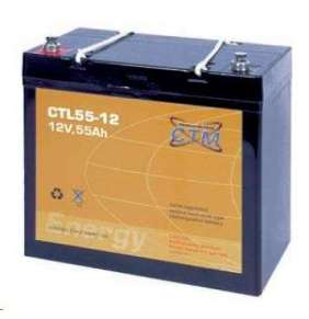 Baterie - CTM CTL 55-12 (12V/55Ah - M6), životnost 10-12let