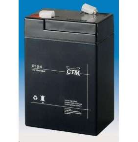 Baterie - CTM CT 6-5 (6V/5Ah - Faston 187), životnost 5let