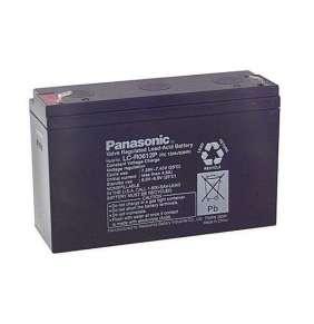Panasonic LC-R0612P (6V  12Ah  faston F1-4,7mm  životnost 6-9let)
