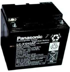 Panasonic LC-P1242AP (12V  42Ah  šroub M5  životnost 10-12let)