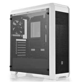 SilentiumPC skříň Regnum RG4TF Frosty White TG / celoskleněná bočnice/ATX/čtečka SD / USB 3.0 / regulace otáček/ bílá