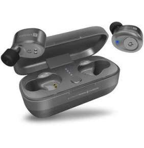 CONNECT IT True Wireless HYPER-BASS Ed. II Bluetooth sluchátka do uší s mikrofonem, ŠEDO STŘÍBRNÁ