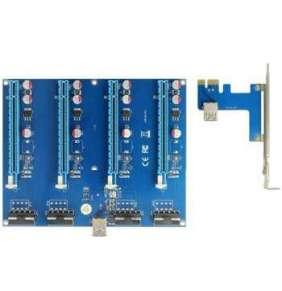 Delock Riser Card PCI Express x1   4 x PCIe x16 s 60 cm USB kabelem