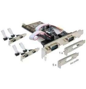 Adaptér PCI Express x1 6x sériový port + low profile