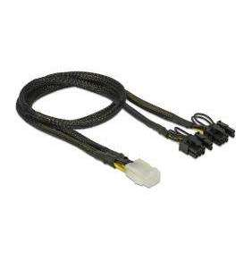 Delock PCI Express napájecí kabel 6 pin samice > 2 x 8 pin samec 30 cm