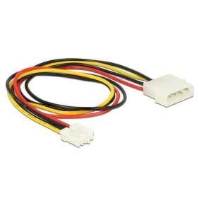 Kabel Power Molex 4 Pin Stecker   Floppy 4 Pin Buchse 40 cm Delock