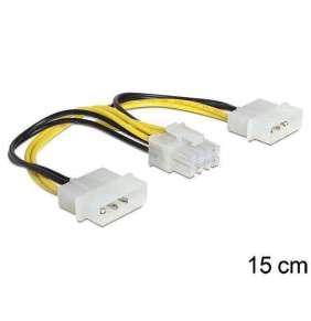 Delock napájecí kabel 8 Pin EPS   2 x 4 Pin molex