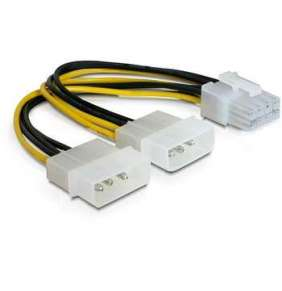 "Power Adapter pro PCI Express karty z 2x 5,25"" na 8-pin"