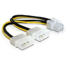 Delock napájací kábel 2xHDD -> 1xPCI Express 6pin