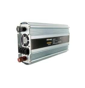 WE Měnič napětí DC/AC 12V / 230V, 2000W, 2 zásuvky