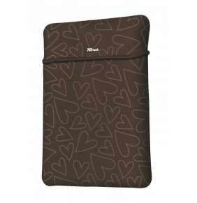 "TRUST myš + obal na notebook Yvo Reversible 15.6"" Laptop Sleeve and Wireless Mouse - Brown Hearts"