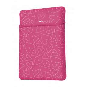 "TRUST myš + obal na notebook Yvo Reversible 15.6"" Laptop Sleeve and Wireless Mouse - Pink Hearts"