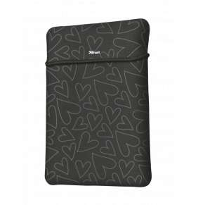 "TRUST myš + obal na notebook Yvo Reversible 15.6"" Laptop Sleeve and Wireless Mouse - Black Hearts"