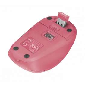 TRUST myš Yvi Fabric Wireless Mouse - pink