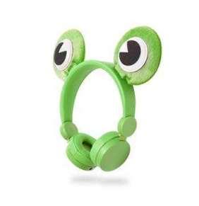 Nedis HPWD4000GN - Drátová Sluchátka | 1,2m Kulatý Kabel | Na Uši | Odpojitelná Magnetická Ouška | Freddy Frog | Zelená