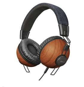 TRUST sluchátka Noma headphones - denim wood