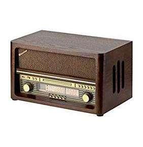 ROADSTAR Rádio – v drevenom vyhotovení, CD/MP3, analógový AM/FM tuner, Bluetooth, USB