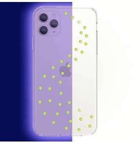 Swarovski kryt Milky Way Clear pre iPhone 11 Pro Max - Neon Yellow