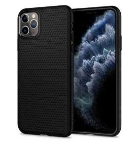Spigen kryt Liquid Air pre iPhone 11 Pro Max - Black