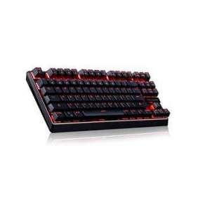 Modecom VOLCANO LANPARTY drátová mechanická herní klávesnice, červené LED podsvícení, USB, US layout, černá