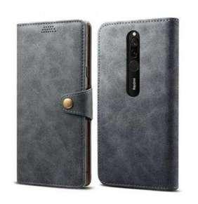 Lenuo Leather pro Xiaomi Redmi 8, šedá