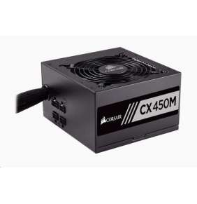 CORSAIR zdroj, CX450M-80 PLUS® Bronze Certified PSU (ATX, 450W, Semi-modular)