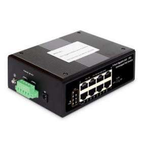 DIGITUS Professional Industrial 7-port Gigabit PoE+ switch with 1x PD port