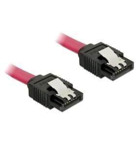 Kabel SATA III 10 cm, přímý, červený