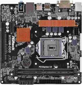 ASRock H110M-DGS, H110 R3.0, DualDDR4-2133, SATA3, DVI,