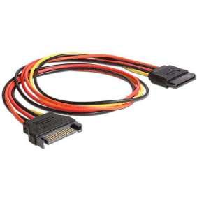 Delock napájecí kabel SATA 15 Pin samec   SATA 15 Pin samice prodlužující 50 cm