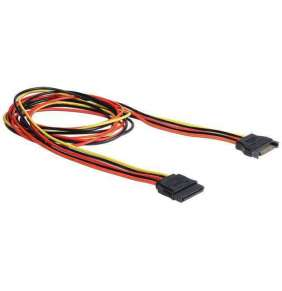 Delock napájecí kabel SATA 15 Pin samec   SATA 15 Pin samice prodlužující 100 cm