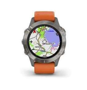 Garmin GPS sportovní hodinky fenix6S PRO Sapphire, Titanium/Orange Band (MAP/Music)