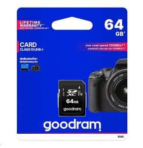 64 GB . SDHC karta GOODRAM Class 10 UHS I