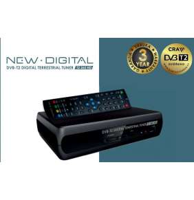 NEW DIGITAL Set-top box T2 265 HD, DVB-T2, HDMI, SCART, USB, CRA certifikace