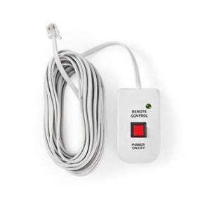 Nedis PIMSRC05WT - Dálkový Ovladač Měniče | pro Nedis Měniče Modifikované Sinusoidy | Kabel 5 m
