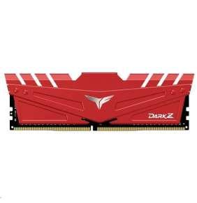 DIMM DDR4 16GB 3000MHz, CL16, (KIT 2x8GB), T-FORCE DARK Z, Red